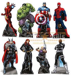 Marvel-Los-Vengadores-Superheroe-lifesize-Silueta-de-carton-Vertical-Comic