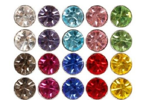 Cool Stainless Steel Fake Magnetic Crystal Nose Ear Lip Studs Clip Non Piercing