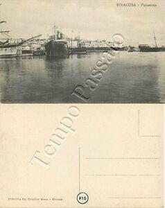 Cartolina di Siracusa, barche in porto