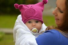 Knitting Pattern - Owl Baby Hat (Baby sizes)