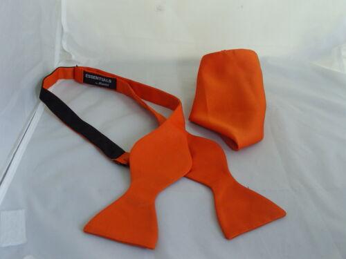 ORANGE Self-tie Bow tie and Hankie Set-Instruct.-The More U Buy/>The More U Save*