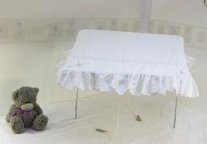 Pram Canopy pour s/'adapter silver cross en Rose Avec Blanc Et Rose Bows