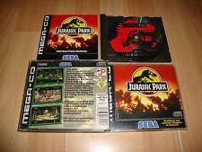 JURASSIC PARK FOR SEGA MEGA CD MEGA-CD GAME GERMANY VERSION USED COMPLETE