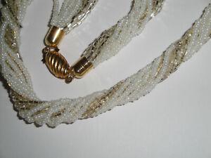 Collana torchon in vetro di Murano