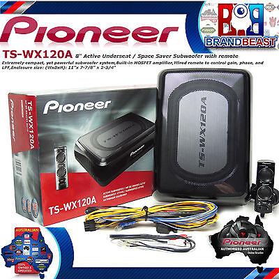 "New Pioneer Ts-wx120a Oversize 8"" Slim Subwoofer Sub Inbuilt Amp Ute Tswx120a"