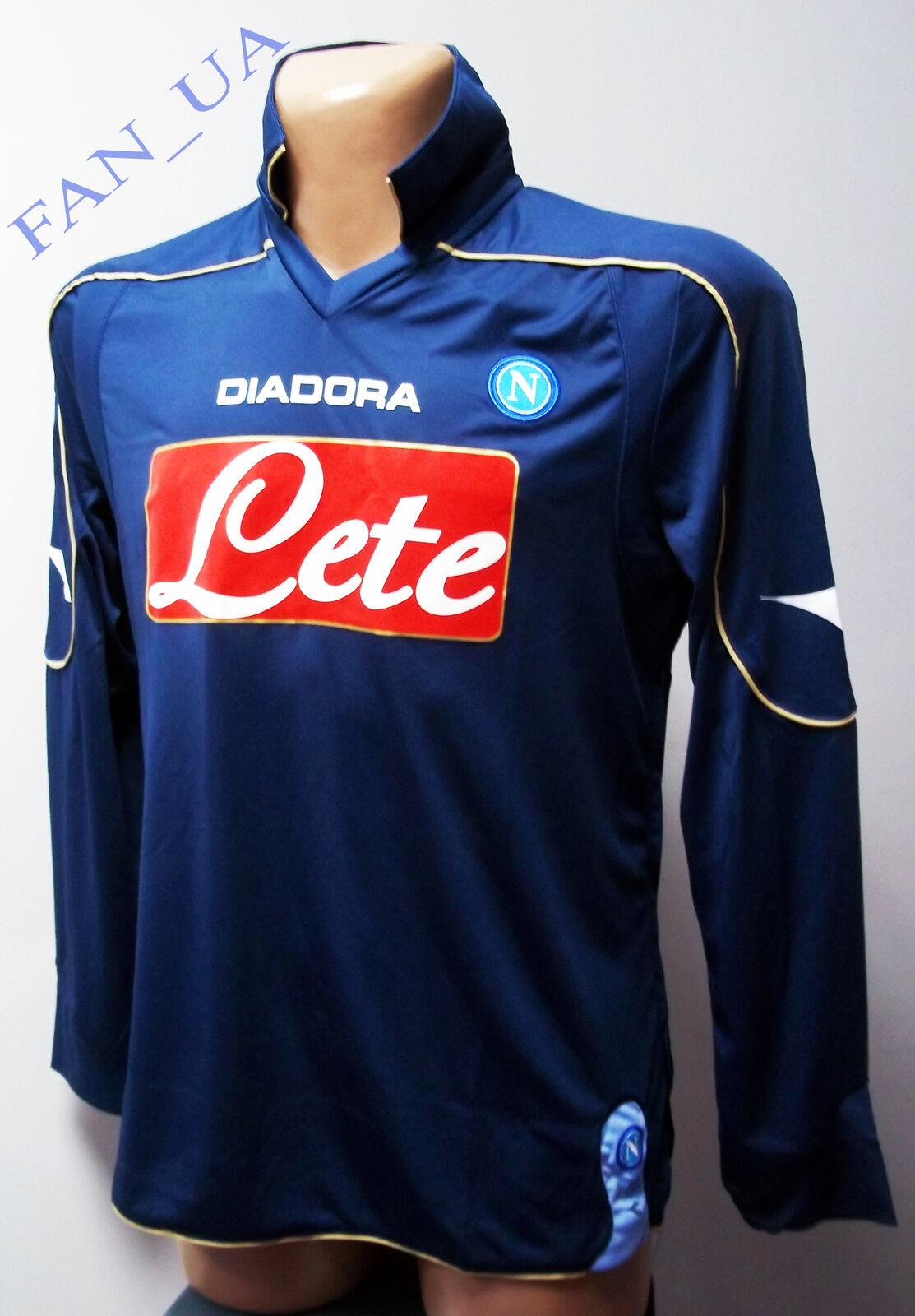 SHIRT Maglia CALCIO SSC Napoli MATCH WORN Jersey diadora Camiseta 2008 2009