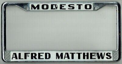 modesto california alfred matthews vintage pontiac gm dealer license plate frame ebay ebay