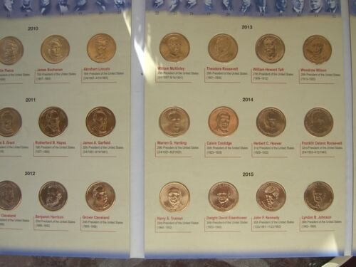 Complete Set of Presidential One Dollar Coins //Album 2007 to 2016 Denver Mint