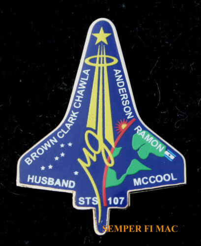 STS-107 SPACE SHUTTLE Columbia MEMORIAL NASA HAT PIN EOW 2-1-2003 ISRAEL ISA WOW