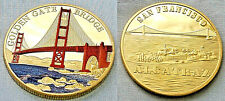 Golden Gate Bridge Gold Coin San Francisco Alcatraz Jail House Fields Park USA