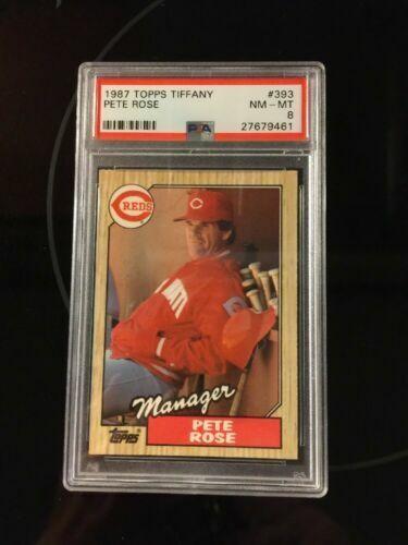 1987 Topps Pete Rose Cincinnati Reds 393 Baseball Card For Sale Online Ebay