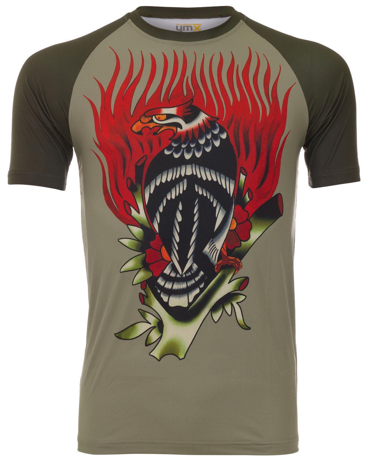 YMX YELLOWMAN Men's Olive Fire Eagle T-shirt XXL XL L MD NWT
