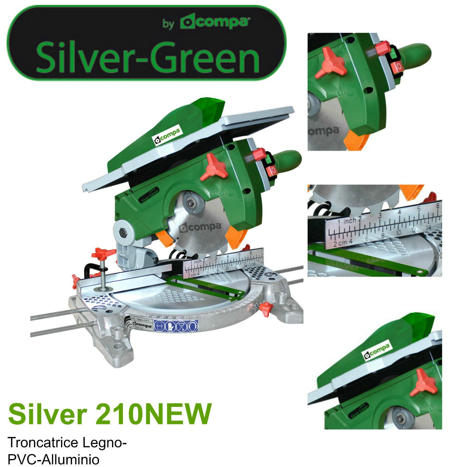 Compa Kappsäge Laptop-ø 210mm Plan Top- Aluminium Silber 210 neu