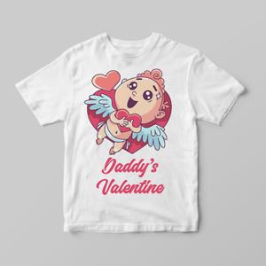 Daddy/'s Valentine Cupid Hugging Heart Children/'s Kids T Shirts T-Shirt Top