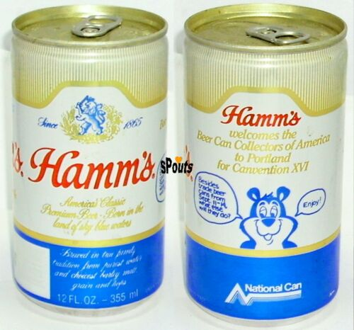 HAMM/'S BEAR 1986 BEER CAN COLLECTOR AMERICA BCCA CONVENTION 16th PABST OREGON WA