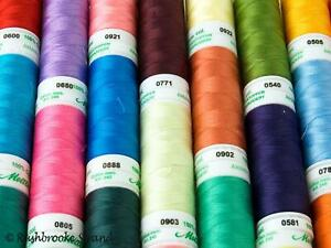 Mettler Embroidery Thread Lot 40 Spools New /& Used ON SALE Multi Color Merc Cotton