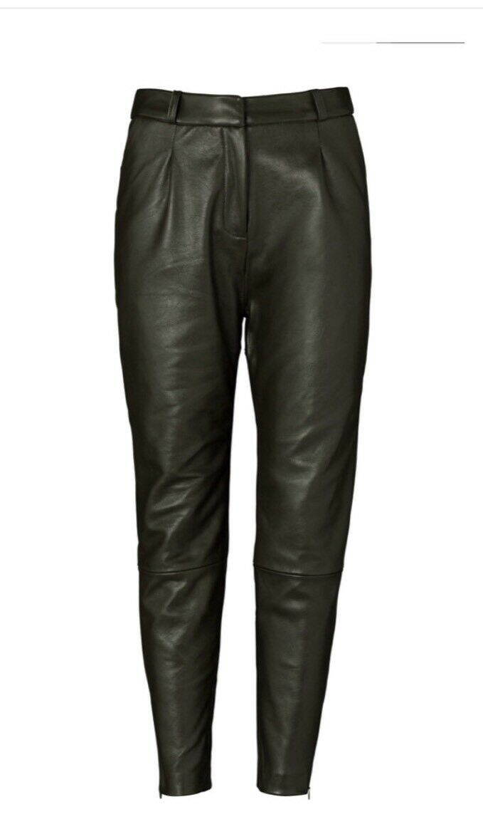 Viktoria And Woods Leather Khaki Pants Size 0 RRP  Now  New With Tag