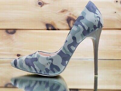 "Fabio Black Snake Leatherette 4.5/"" High Heel Stiletto Shoes Pointy Toe Pump 7-11"