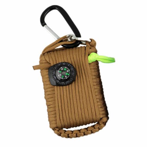 5321 29 en 1 EDC Paracord Kit De Survie Mousqueton Boussole de pêche Outils Gear Set