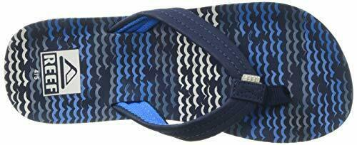 REEF Unisex-Kid/'s AHI Sandal Blue Horizon Waves