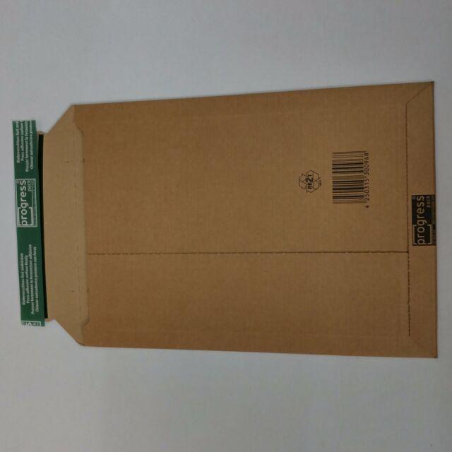 Karton Versandtasche aus Wellpappe A4+ 250x352x40mm/235x337x-35 Progress W01.04