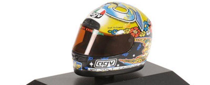 MINICHAMPS 397 990046 AGV HELMET Valentino Valentino Valentino Rossi World Champion 250 GP 1999 1 8 1e623c