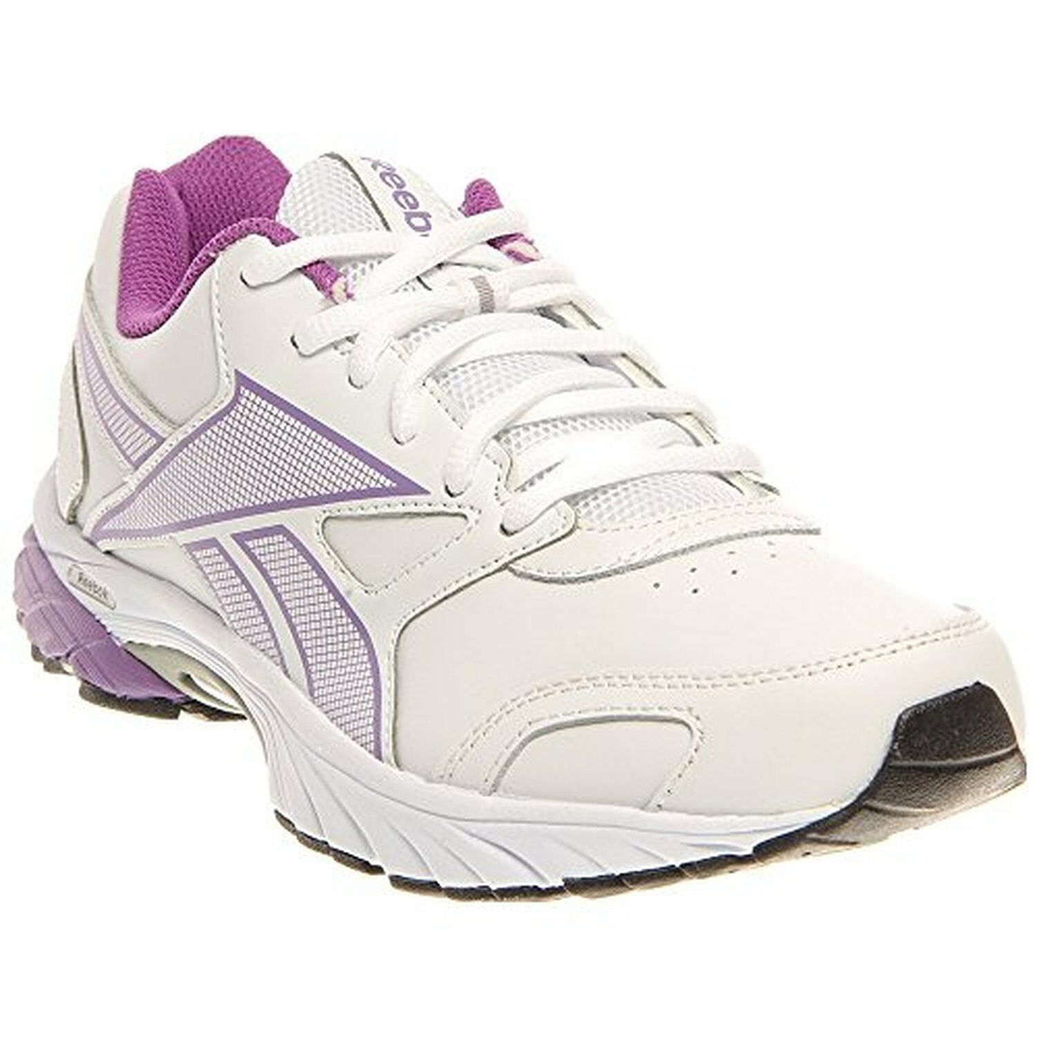 Reebok Womens Triplehall Running Casual Walking shoes White Purple All Sizes