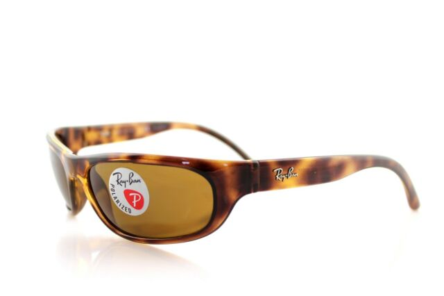 207e757563 POLARIZED NEW Genuine RAY-BAN Predator Tortoise Wrap Sunglasses RB 4033  642 47