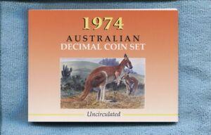 1974-Mint-Coin-Set-Uncirculated-UNC-Sherwood-Australia