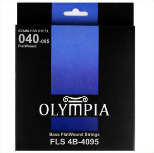 Olympia-FlatWound-Electric-Bass-Strings-Gauge-40-95-FLS-4B-4095