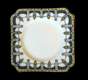 Beautiful-Royal-Doulton-Claremont-Square-Sweets-Dish-Gilt-Trim-Circa-1912
