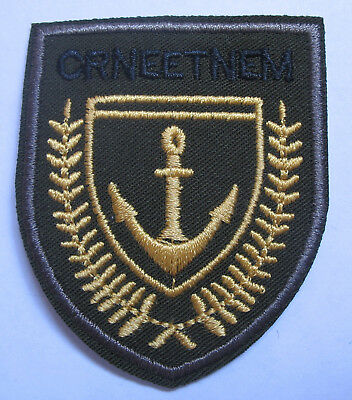 Aufnäher Anker  Patch Anchor Segeln Marine Seefahrt S