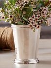 TWOS COMP. SILVER-PLATED LG MINT JULEP CUP VASE BEADED EDGING $32.50 4.5