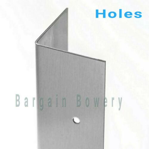 """18 Gauge 72/"""" X 1/"""" X 1/"""" Stainless Steel Angle Corner Guard Wall Trim for Kitchen"""