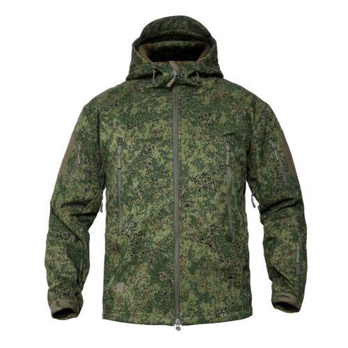 Waterproof Tactical Herren Soft Shell Jacke Coat Army Jacke Windbreaker Hooded