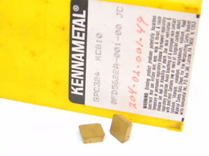 NEW-SURPLUS-10PCS-KENNAMETAL-SPC-324-GRADE-KC810-CARBIDE-INSERTS