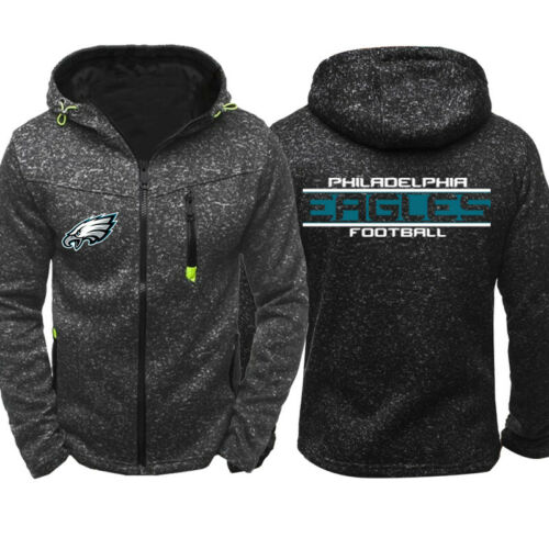 Philadelphia Eagles Football Hoodie Zipper Sweatshirt Casual Jacket Coat Top