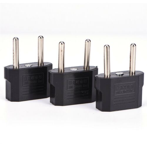 US AU EU To**EU Plug Travel Wall AC Power Charger Outlet Adapter Cable JH