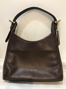 coach mini hobo handbag purse bag dark brown smooth leather vintage rh ebay com