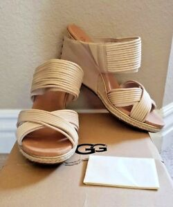 7b28ed593da Details about UGG Australia Women's Hilarie Wedge Slide Sandals Tan Brown  Size 8.5 M New