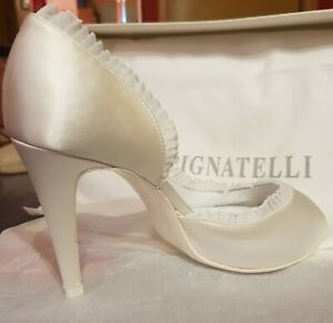 Scarpe Sposa In Raso.Scarpe Da Sposa Donna Carlo Pignatelli Misura 36 Con Tacco Bianco