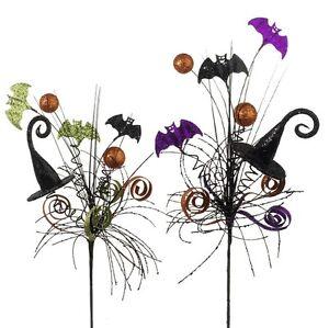 image is loading set 2 raz imports halloween decor floral pick