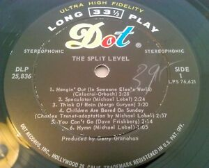 THE SPLIT LEVEL - DIVIDED WE STAND LP / ORIGINAL U.S DOT DLP 25836 PSYCH GURYAN