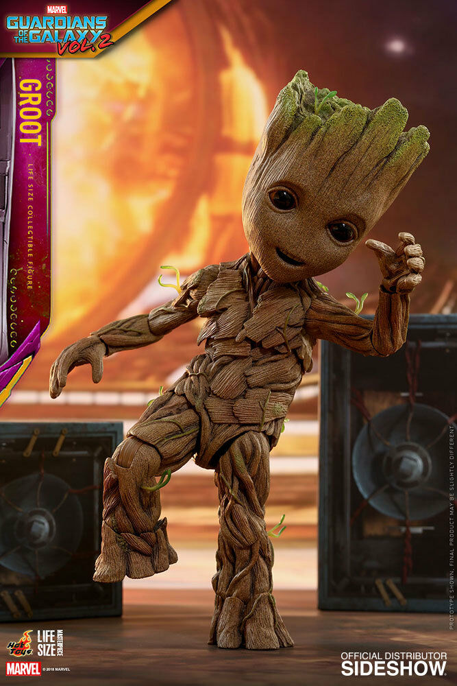 HOT TOYS SIDESHOW GUARDIANS OF OF OF THE GALAXY 2 GROOT 1 1 LIFESIZE EXCLUSIVE 55c