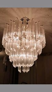 Vintage mid 1960s camer murano venini chandelier 88 crystals ebay image is loading vintage mid 1960 039 s camer murano venini aloadofball Images