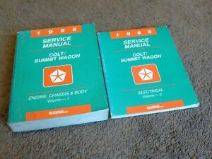 1995 DODGE COLT WAGON EAGLE SUMMIT WAGON Repair Shop Service Manual SET FACTORY