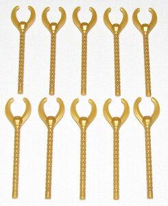 LEGO Pearl Gold Rotor 10 Diameter Lot of 10 Parts Pieces 35775 Ninjago Spinjitzu