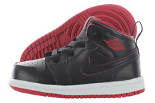 Air Jordan 1 Mid BT Baby Toddler Shoes Black//Black-Black 640735-030