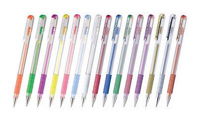 Pentel Hybrid Gel Grip K118 0.8mm Assorted Colors Gel Roller Pens Pack of 15