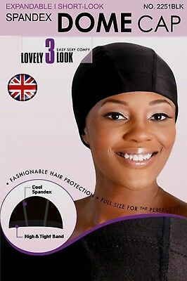 Murry Collection Spandex Skull Cap Flexible Breathable No 4764 Black